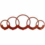 Вешалка настенная Glozis Rings 50х17 см