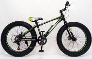 Гірський велосипед S800 HAMMER EXTRIME Фет Байк Колеса 26''х4,0. Алюмінієва рама 17 Японія Shimano Зелений