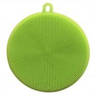 Універсальна силіконова губка-щітка для миття посуду зелена (NR0029_1)
