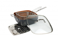 Сковородка-фритюрница с крышкой Top Kitchen BN-8001 Черный (b1b50658)