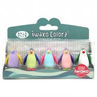 Набор ластиков IWAKO Пингвинчики (ER-GLB009)