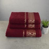 Набор махровых полотенец GM Textile Caesar 3 шт Бордовый