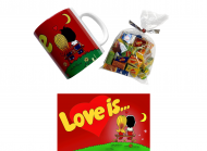 Подарочный набор Love is Красный