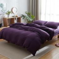 Комплект постельного белья Еней-Плюс МІ0023 евро Фиолетовый