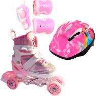 Роликовые коньки Набор Happy Combo Disney 29-33 ротация колес Princess Pink Розовый (2T3007E)