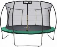 Батут Atleto 252 см с внутренней сеткой Зеленый (21000803)