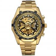 Часы Winner Timi Skeleton мужские механические с автоподзаводом водонепроницаемые Gold