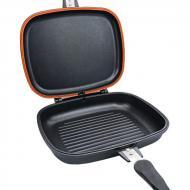 Сковорода двухсторонняя для гриля и жарки A-PLUS 30 см Черный (1500)