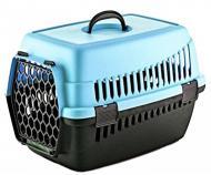 Переноска для тварин Plast Чорно-синій (MR12357)