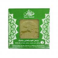 Мыло ручной работы по старинным сирийским рецептам DK Оливково-лавровое с шафраном и мускусом 100% натуральное (204036-2)