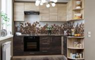 Кухня кутова зі стільницею без мийки Еверест Оптіма набір 3.05 м Дуб Сонома/Венге Аруша ЛДСП (00856)