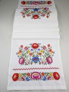 Полотенце свадебное льняное Галерея льна Цветочный 35х210 см Белый с вышивкой (82-24/422/237/76)