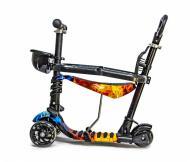 Самокат Scale Sports i-Trike 5в1 с родительской ручкой и сидением огонь-вода