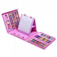 Набір художній Super Mega Art Set з мольбертом 208 предметів Рожевий
