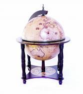 Глобус бар настольный Гранд Презент 33006N Зодиак 33 см на 4-х ножках Кремовый (14269)