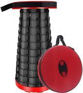 Складной походный табурет Telescopic Stool красный