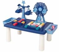 Дитячий ігровий столик c конструктором RUNRUN Block World LX 881 69 шт. Синій (V162)