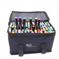 Набор скетч маркеров 120 шт для рисования Touch спиртовые двусторонние Черный (120.550)