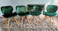 Набор стульев Zano Велюр 4 шт Зеленый