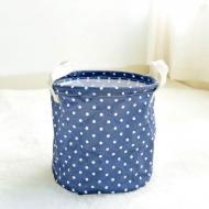 Кошик для білизни Berni Home Peas тканинний з ручками Синій (58453)