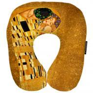 Дорожная подушка Золотой поцелуй 32x30 см (DOP_16J095)