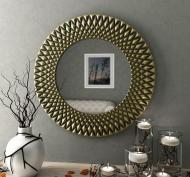 Зеркало настенное VELKA Diamond в бронзовой раме 80 см