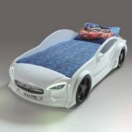 кровать-машина Mersedes GT 80х160 см с подсветкой Белый