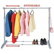 Стойка для одежды Tatkraft Party телескопическая на колёсиках 95-150х96.5-166х44 см (13315)