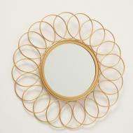 Зеркало настенное Гранд Презент Цветок 37 см Золотой (1017263-1)