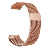 Металлический ремешок Watchbands Milanese Loop для Samsung Galaxy Watch Active 2 Розово-золотой