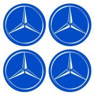 Наліпки на ковпаки колес Mercedes 55 мм