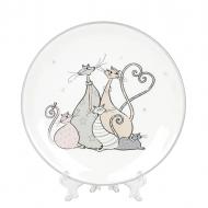 Тарелка керамическая Flora Веселая семейка 16,5 см 31854