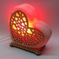 Соляна лампа Велике Серце червоного підсвічування (20034)