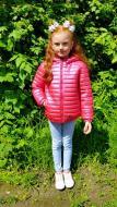 Куртка демисезонная детская Dobri Konopli наполнитель конопляное волокно 128 см Малиновый