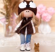 Кукла ручной работы Лиса с собачкой 28 см (45564001)