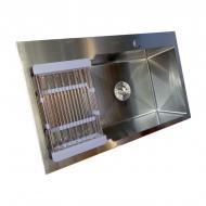 Мийка кухонна Kraft 7848 AR з нержавіючої сталі з сифоном і кошиком