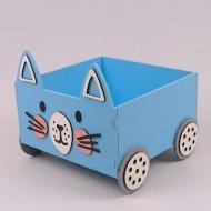 Підставка для книг на колесах Flora Блакитний (29553)