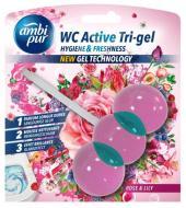 Гелева підвіска для туалету Ambi Pur WC Active Tri-gel Роза і лілія 45 г (824992)