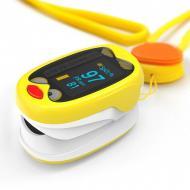 Пульсоксиметр Дитячий Boxym oKids K1 для вимірювання пульсу і рівня насичення кисню в крові на акумуляторі Жовтий