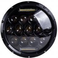 """Фара головного світла LED 75 W ближній/дальній/ходові вогні 7"""""""
