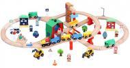 Іграшкова залізниця з дерева iekool-playtive 70 деталей 102x52