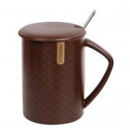 Чашка-заварочник фарфоровая Flora Perfect 0,45 л Коричневый (31814)