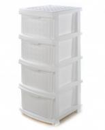 Пластиковий комод R-plastic на 4 яруси  340х400х860мм Білий