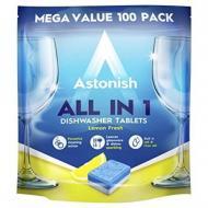 Таблетки для посудомийних машин Astonish Все в одному 100 шт.