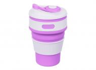 Чашка складная силиконовая Collapsible 5332 350мл, фиолетовая