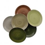 Набор тарелок керамических глубоких Flora Nature микс 27 см 45124