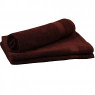 Рушник махровий коричневий 70*140 см ОЕ ТМ Аіша
