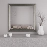 Зеркало квадратное Black Mirror настенное в раме 76х76 Серебро (8731-26)