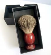 Помазок для гоління з дерева Shima з ворсом Борсука