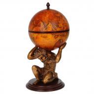 Глобус бар напольный Brigant Мир в руках Атланта сфера 40,5 см Коричневый (42016R)